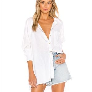 Free People Keep it Simple white button down NWT